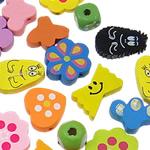 Beads druri, Shape përziera, i lyer, ngjyra të përziera, 10-28mm, : 2-3mm, 790PC/Qese,  Qese