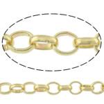 Rrethi Tunxh Zinxhiri, ngjyrë ari praruar, asnjë, , nikel çojë \x26amp; kadmium falas, 7x2mm, :50m,  Shumë