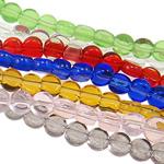 Kristall-Perlen, Kristall, Münze, transluzent, gemischte Farben, 4x2mm, Bohrung:ca. 1mm, Länge:15 ZollInch, 20SträngeStrang/Tasche, verkauft von Tasche