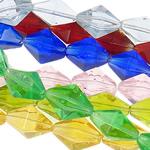 Raute Kristall Perlen, gemischte Farben, 14.50x11x8mm, Bohrung:ca. 1mm, Länge:14.4 ZollInch, 20SträngeStrang/Tasche, verkauft von Tasche