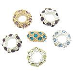 Beads bizhuteri Diamant i rremë, Rondelle, asnjë, me diamant i rremë, ngjyra të përziera, 5.80x11mm, : 5mm, 100PC/Qese,  Qese