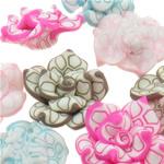 Beads polimer balta, Polymer Clay, Lule, asnjë, ngjyra të përziera, 26-28x13mm, : 1-2mm, 100PC/Qese,  Qese