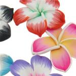 Polymer Clay Cabochon, Lule, ngjyra të përziera, 50-52x11mm, 100PC/Qese,  Qese
