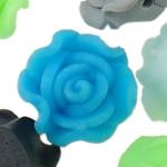 Beads polimer balta, Polymer Clay, Lule, asnjë, ngjyra të përziera, 12x9-14x10mm, : 1-2mm, 100PC/Qese,  Qese