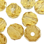 Swarovski Crystal Beads, Round, Champagne Gold, 3mm, : 1mm, 50PC/Qese,  Qese