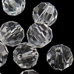 Swarovski Crystal Beads, Round, Kristal, 4mm, : 1mm, 50PC/Qese,  Qese
