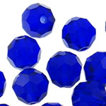 Swarovski Crystal Beads, Round, Dark Sapphire, 6mm, : 1mm, 50PC/Qese,  Qese
