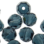 Swarovski Crystal Beads, Round, Montana, 6mm, : 1mm, 50PC/Qese,  Qese