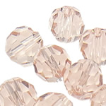 Swarovski Crystal Beads, Round, Vintage Rose, 6mm, : 1mm, 50PC/Qese,  Qese