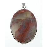 Pendants gur i çmuar bizhuteri, Rainbow Jasper, Oval, 32x42x8mm, : 5x5mm, 10PC/Qese,  Qese