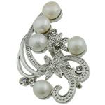 Pearl ujërave të ëmbla karficë, Pearl kulturuar ujërave të ëmbla, with Tunxh, Lule, e bardhë, 54.50x37x15mm,  PC