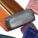 Beads xham porcelani, Drejtkëndësh, xham, ngjyra të përziera, 15.50x5.50x3.50mm, : 2.5mm, 80PC/Qese,  Qese