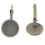 Llozi tunxh Back Vath Komponenti, Ngjyra antike bronz i praruar, asnjë, , nikel çojë \x26amp; kadmium falas, 27x14x2mm, 12x12mm, 300PC/Qese,  Qese