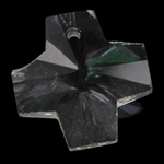 Swarovski Crystal Pendants, Kryq, Kristal, 14x14x8mm, : 1.5mm,  PC