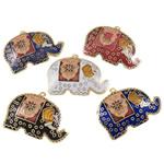 Pendants Cloisonne, Kafshë, i përzier, 34x24x3.50mm, : 1mm, 20PC/Qese,  Qese