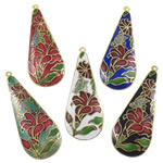 Pendants Cloisonne, Lot, i përzier, 51x20x2.50mm, : 1.3mm, 20PC/Qese,  Qese