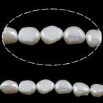 Barok Beads kulturuar Pearl ujërave të ëmbla, Pearl kulturuar ujërave të ëmbla, e bardhë, AA, 8-9mm, : 1mm, :15.5Inç,  15.5Inç,