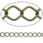 Stainless Steel Eyepins, Hekur, Romb, Ngjyra antike bronz i praruar, asnjë, , nikel çojë \x26amp; kadmium falas, 10x12.60x1.40mm, :25m,  PC