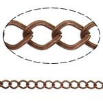Stainless Steel Eyepins, Hekur, Romb, ngjyrë bakri të praruar antike, asnjë, , nikel çojë \x26amp; kadmium falas, 6.80x8.80x1.30mm, :25m,  PC