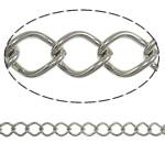 Stainless Steel Eyepins, Hekur, Romb, ngjyrë platin praruar, asnjë, , nikel çojë \x26amp; kadmium falas, 7x9.70x1.40mm, :25m,  PC
