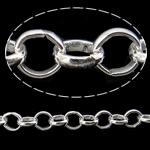 Hekuri Zinxhiri Rolo, Ngjyra argjend praruar, asnjë, , nikel çojë \x26amp; kadmium falas, 5.80x1.40mm, :25m,  PC
