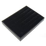 Display Velveteen Vath, with Lëkurë & Dru, Drejtkëndësh, asnjë, e zezë, 15x20cm, 2.5cm, 10PC/Shumë,  Shumë
