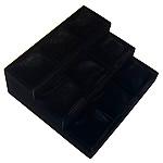 Display Velveteen byzylyk, with Dru, Shkallë, asnjë, e zezë, 25x27cm, 9.5cm, 3PC/Shumë,  Shumë