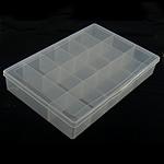 Nail bizhuteri Box, Plastik, Drejtkëndësh, asnjë, i tejdukshëm, e bardhë, 18x27cm, 4.5cm, 5PC/Shumë,  Shumë