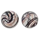 Beads lulëzim Lampwork, Round, fryj, 12mm, : 1.5-2.2mm, 50PC/Qese,  Qese
