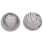 Mundgeblasene Lampwork Perlen, rund, 12mm, Bohrung:ca. 1.5-2.2mm, 50PCs/Tasche, verkauft von Tasche