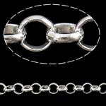 Hekuri Zinxhiri Rolo, Ngjyra argjend praruar, asnjë, , nikel çojë \x26amp; kadmium falas, 8x2.20mm, :20m,  PC
