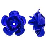 Beads bizhuteri alumini, Lule, pikturë, blu të thellë, 15x15x9mm, : 1.5mm, 950PC/Qese,  Qese