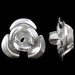 Beads bizhuteri alumini, Lule, pikturë, argjend, 6x7x4mm, : 1mm, 950PC/Qese,  Qese