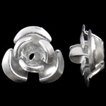 Aluminium-Lackschnitzerei, Aluminium, Blume, Silberfarbe, 8x8.50x5mm, Bohrung:ca. 1.1mm, 950PCs/Tasche, verkauft von Tasche