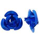 Beads bizhuteri alumini, Lule, pikturë, blu, 6x7x4mm, : 1mm, 950PC/Qese,  Qese