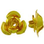 Beads bizhuteri alumini, Lule, pikturë, ar, 6x7x4mm, : 1mm, 950PC/Qese,  Qese