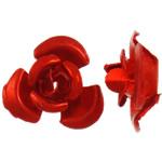 Beads bizhuteri alumini, Lule, pikturë, i kuq, 8x8.50x5mm, : 1.1mm, 950PC/Qese,  Qese