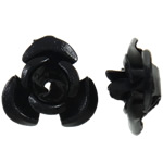 Aluminium-Lackschnitzerei, Aluminium, Blume, Spritzlackierung, schwarz, 12x11.50x6mm, Bohrung:ca. 1.3mm, 950PCs/Tasche, verkauft von Tasche