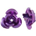 Beads bizhuteri alumini, Lule, pikturë, vjollcë, 6x7x4mm, : 1mm, 950PC/Qese,  Qese
