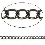 Twist Hekuri Oval Zinxhiri, plumbit ngjyrë të zezë praruar, asnjë, , nikel çojë \x26amp; kadmium falas, 7.80x5.50x1.30mm, :50m,  PC