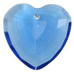 Swarovski Crystal Pendants, Zemër, Safir, 33x32x13mm, : 3mm,  PC