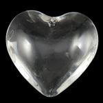 Swarovski Crystal Pendants, Zemër, Kristal, 35x33x13mm, : 2mm,  PC