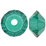 Swarovski Crystal Beads, Bicone, Smerald, 3.50x6mm, : 1mm, 50PC/Qese,  Qese