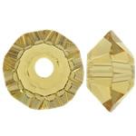 Swarovski Crystal Beads, Bicone, Champagne Gold, 3.50x6mm, : 1mm, 50PC/Qese,  Qese