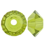 Swarovski Crystal Beads, Bicone, Olivine, 3.50x6mm, : 1mm, 50PC/Qese,  Qese