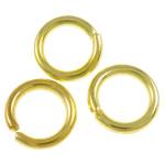 Iron Mbyllur Ring Jump, Hekur, Petull e ëmbël në formë gjevreku, ngjyrë ari praruar, asnjë, , nikel çojë \x26amp; kadmium falas, 0.90x5mm, : 3.5mm, 13640PC/Qese,  Qese