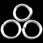 Iron Mbyllur Ring Jump, Hekur, Petull e ëmbël në formë gjevreku, Ngjyra argjend praruar, asnjë, , nikel çojë \x26amp; kadmium falas, 0.70x5mm, : 4mm, 23255PC/Qese,  Qese