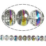 Imitim Swarovski Crystal Beads, Kristal, Rondelle, colorful kromuar, faceted & imitim kristal Swarovski, asnjë, 12x9mm, : 1.8mm, :11.5Inç, 32PC/Fije floku,  11.5Inç,