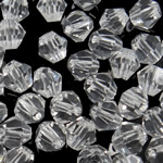 Swarovski Crystal Beads, Bicone, Kristal, 5mm, : 0.8mm, 50PC/Qese,  Qese
