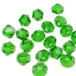 Swarovski Crystal Beads, Bicone, Gjelbër fier, 4mm, : 1mm, 50PC/Qese,  Qese
